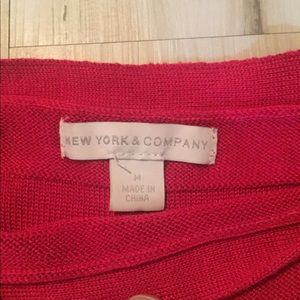 New York & Company Sweaters - New York & Co Red 🥶 Cold Shoulder sweater